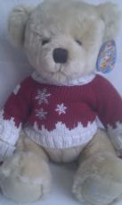 Adorable Big 'Harrods Christmas Edition' 2008 Collectable Teddy Bear + Tag